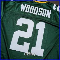 100% Authentic Charles Woodson Mitchell Ness 2010 Packers Jersey Size 40 M Mens