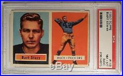 1957 Topps #119 Bart Starr (R) (HOF) PSA 8 NM-MT (OC) Green Bay Packers, Rookie