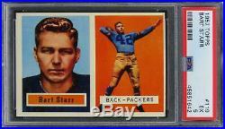 1957 Topps Bart Starr HOF ROOKIE RC #119 PSA 5 EX