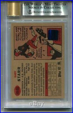 1957 Topps Bart Starr Rookie Card 2002 Heritage Autographed BGS 9 Auto 10