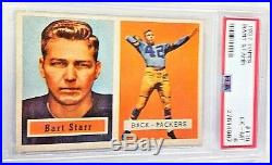 1957 Topps Bart Starr Rookie Card RC #119 PSA EX-MT 6 Packers
