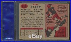 1957 Topps Football #119 Bart Starr Packers HOF Rookie Card RC PSA 6 Ex-Mt (JJS)