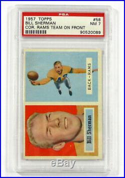 1957 Topps Football PSA Graded Complete Set (1-154) Avg 7.06 Unitas Starr PSA 7