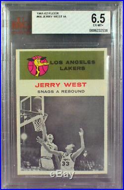 1961 Fleer NEAR COMPLETE SET Wilt Chamberlain Jerry West Oscar Robertson PSA BGS