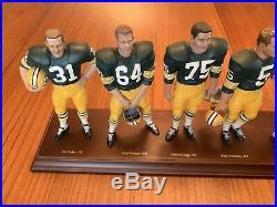 1966 GREEN BAY PACKERS Danbury Mint figurines 1999 Starr Lombardi Nitschke