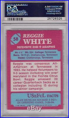 1984 Topps USFL #58 Reggie White PSA 9 Mint Eagles Packers RC Rookie