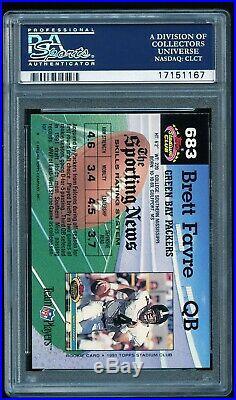 1992 Stadium Club BRETT FAVRE #683 Rare High Number PSA 10
