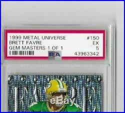 1999 Skybox Metal Universe Brett Favre Gem Masters PSA 5 (1 of 1)