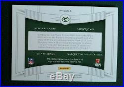 1/1 2019 National Treasures Aaron Rodgers NFL SHIELD Davante Adams Jones Packers