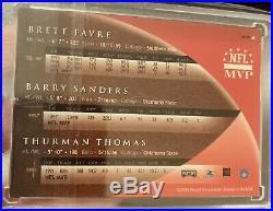 2000 Playoff Prestige Brett Favre Barry Sanders Thurman Thomas on Card Auto SSP