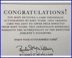2001 Upper Deck NFL LEGENDS Bart Starr On Card Autograph Packers Nice