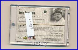 2002 SP Legendary Cuts Vince Lombardi Cut Signature Auto Autograph Packers HOF