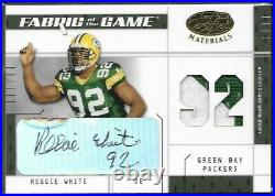2003 Certified Reggie White Packers HOF Autograph/Patch 53/92