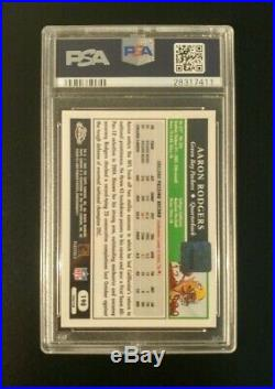 2005 AARON RODGERS Topps Chrome AUTO ROOKIE GOLD XFRACTOR /399 PSA 9 MINT