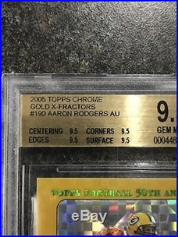 2005 Aaron Rodgers Topps Chrome RC Auto Xfractor BGS 9.5/10 All Subs 9.5! Low #
