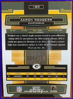 2005 Absolute Memorabilia AARON RODGERS Rookie RC Auto Spectrum Gold /100