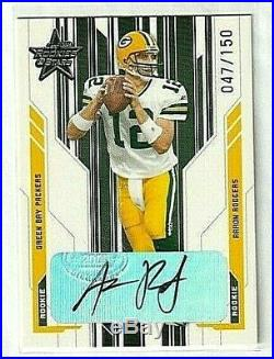 2005 Leaf Rookies & Stars Aaron Rodgers Auto RC #/150 Rookie Green Bay Packers