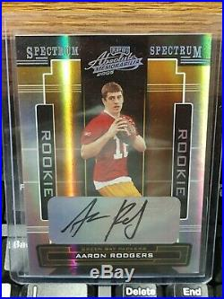 2005 Playoff Absolute Silver Spectrum Aaron Rodgers Sp Auto Rc #101/249