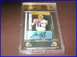 2005 Playoff Contenders #101 Aaron Rodgers Rookie Bgs Grade 9.5 Gem Mint 10 Auto