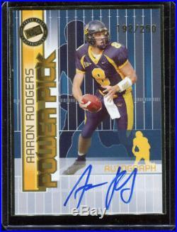 2005 Press Pass Power Picks Aaron Rodgers Rookie Auto Autograph #192/250
