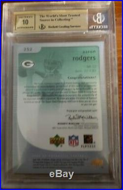 2005 SP Authentic Aaron Rodgers 1/1 NFL shield RC Holy Grail of Aaron Rodgers