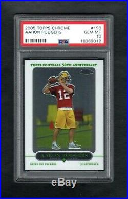 2005 Topps Chrome #190 Aaron Rodgers Rc Packers Psa 10 Gem Mint