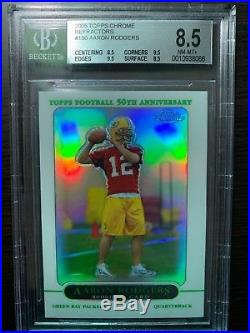 2005 Topps Chrome AARON RODGERS RC Refractor BGS 8.5 (8.5, 9.5, 9.5, 8.5)