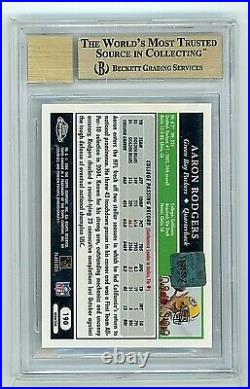 2005 Topps Chrome Aaron Rodgers Auto RC Gold Xfractor #/399 BGS 9.5 10 Rookie