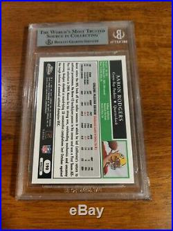 2005 Topps Chrome Refractor Aaron Rodgers ROOKIE RC #190 BGS 9 MINT