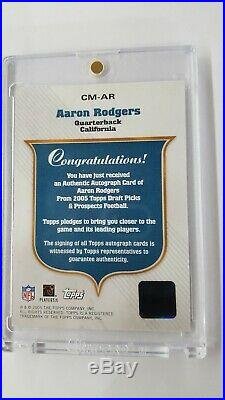 2005 Topps Draft Picks & Prospects Aaron Rodgers Class Marks Auto Rc. RARE