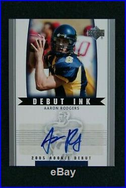 2005 Upper DecK Rookie Debut Ink Aaron Rodgers Auto RC HTF Packers HOF QB