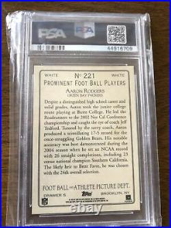 2005 topps turkey red aaron rodgers psa 10 White Low Pop Extremely Rare