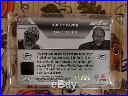 2007 Bart Starr Brett Favre Topps Co-signers Dual Auto Autograph /25 Read