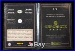 2011 Panini Playbook Chronicle Signatures 2/5 Aaron Rodgers Ben Roethlisberger