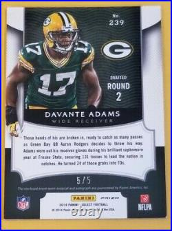 2014 Davante Adams RPA Panini Select Football Blue Mojo Prizm #'d 5/5 Packers