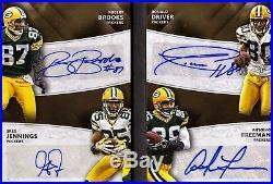 2015 Donruss Signature Green Bay Packers Quad Auto Booklet #/10 Sick