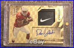 2015 Spectra David Johnson Auto Nike Logo Tag Patch Superfractor Rookie #d 1/1