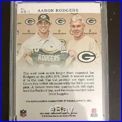 2016 Immaculate Moments Aaron Rodgers Draft On Card Auto Autograph Packers #/5