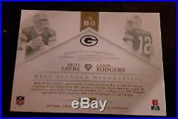2017 Brett Favre Aaron Rodgers Flawless Dual 3-color patch #10/10 Packers