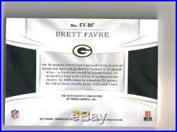 2017 Panini Immaculate Brett Favre Eye Black Signature Ink Auto #11/15 Packers