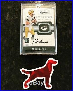 2017 Panini Script Brett Favre Auto 9/10 Packers Autograph Ts-bf Nice