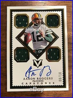 2017 Panini Vertex Capstones Aaron Rodgers Game Used Auto Autograph Jersey #8/10