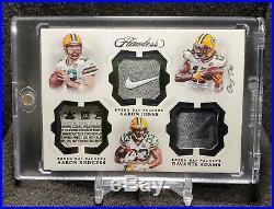 2018 Flawless Aaron Rodgers Aaron Jones Davante Adams Triple Tag 1/1! Packers
