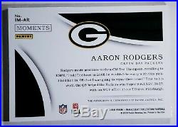 2018 IMMACULATE Moments MVP ON CARD Auto AARON RODGERS 6/10 Packers IM-AR