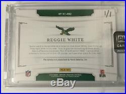 2018 National Treasures Reggie White Auto Autograph Treasured Cuts #1/1 Eagles