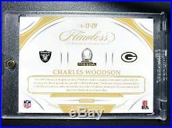 2018 Panini Flawless Charles Woodson Autograph Progress Auto Packers Raiders /10