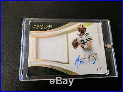 2018 Panini Immaculate Aaron Rodgers Jersey Auto Autograph 1/5 Packers SP RARE