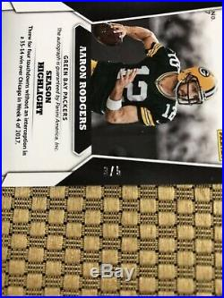 2018 Panini National Vip Aaron Rodgers Ssp 3/5 Gold Refractor Auto Packers