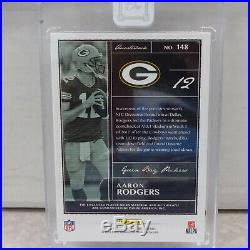 2018 Panini One Aaron Rodgers Packers 3CLR Patch ON CARD Auto ACETATE #01/10