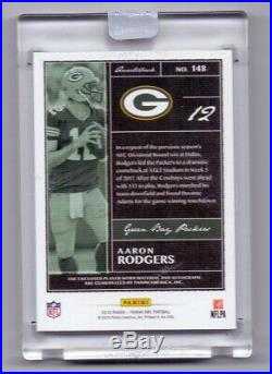 2018 Panini One Encased Aaron Rodgers Acetate PATCH AUTO 1/3 PACKERS QB SP DAE